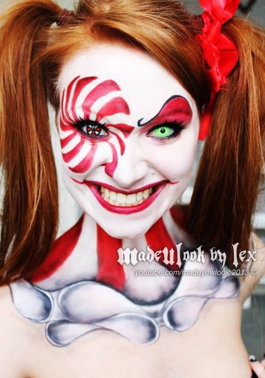 20+ Scary Clown Face Paint Ideas For Halloween 2015 ...
