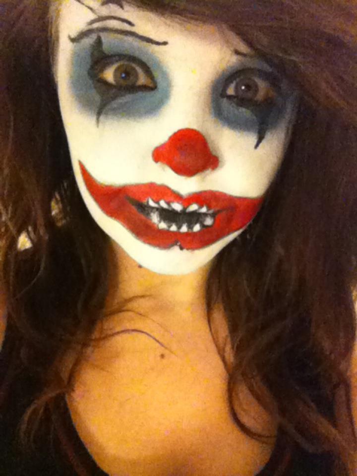halloween makeup ideas - scary clown