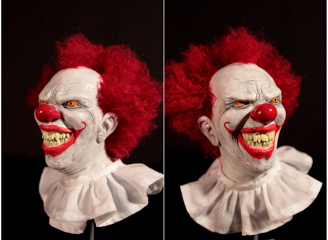 halloween makeup ideas- strange clown