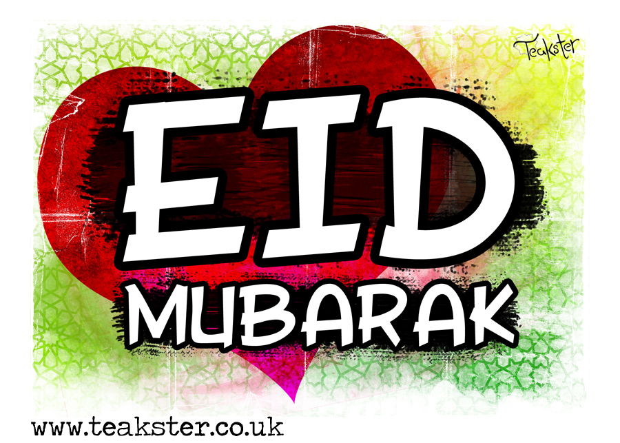 heart beating Eid Mubarak