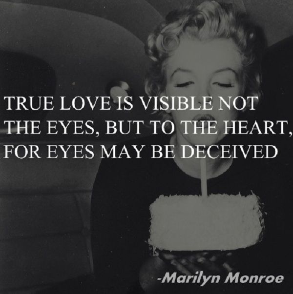 marilyn monroe quote about true love