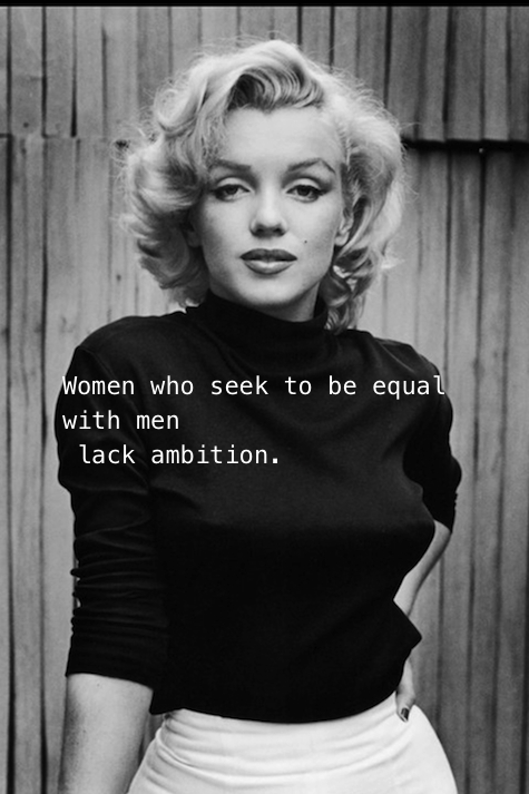 marilyn monroe quote for women