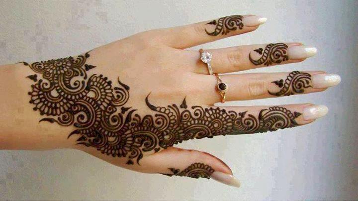 simple henna mehndi design