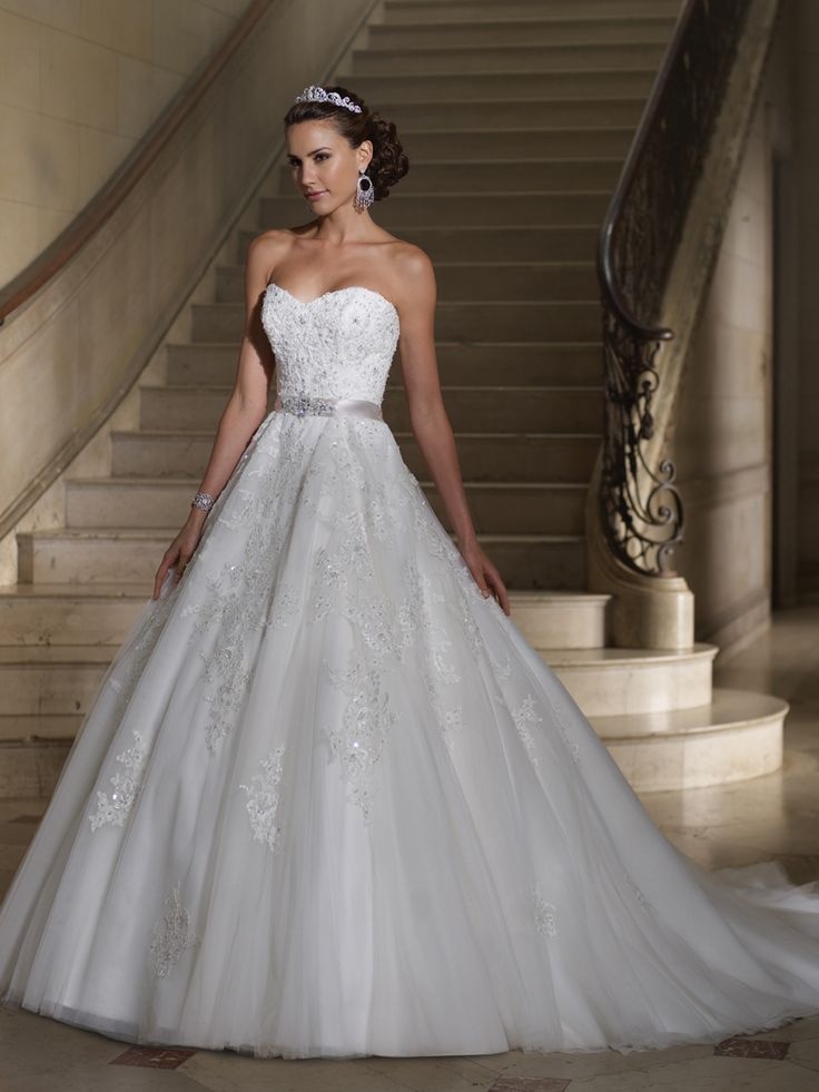starpless wedding dress