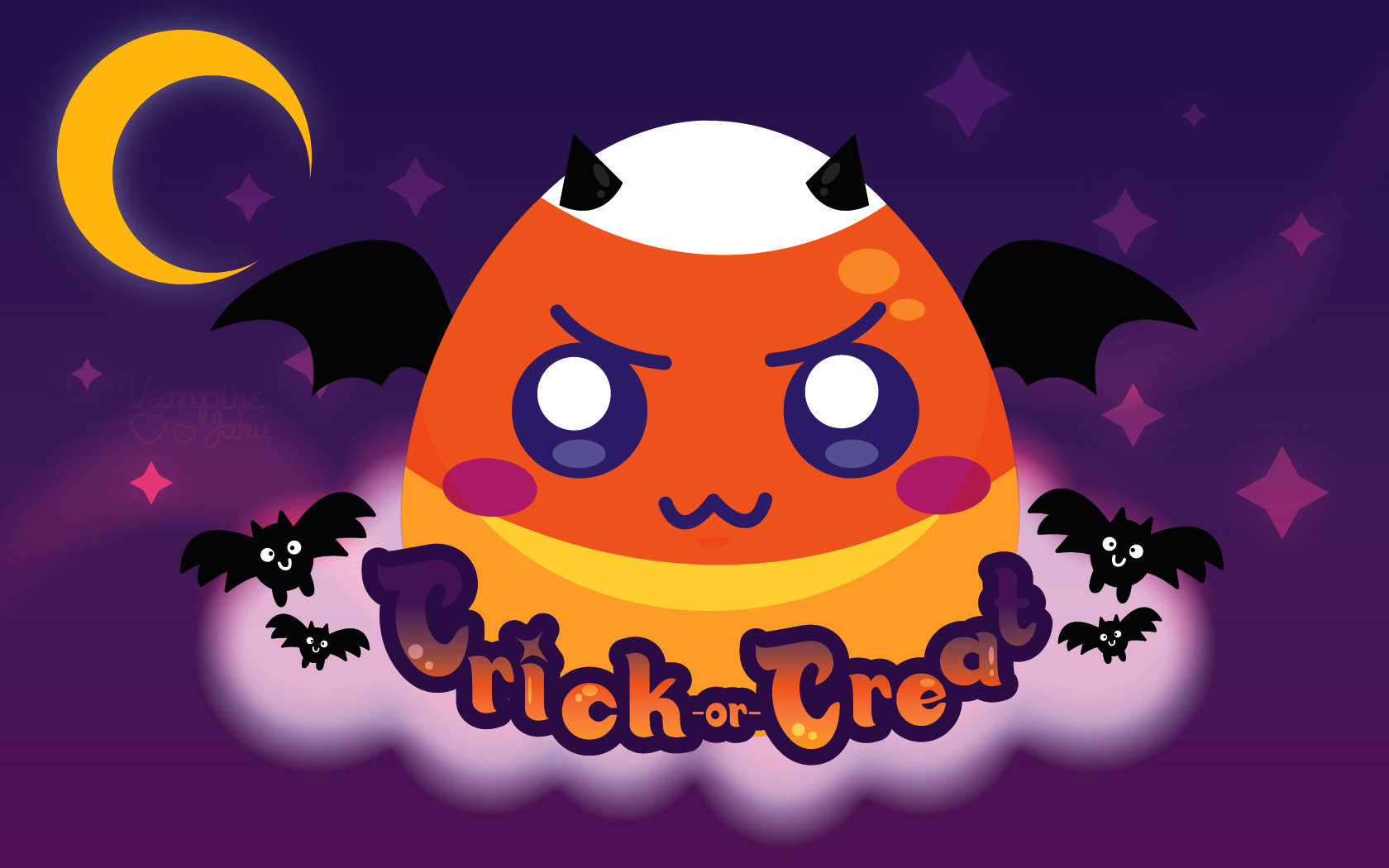 Evil Candy Corn Wallpaper