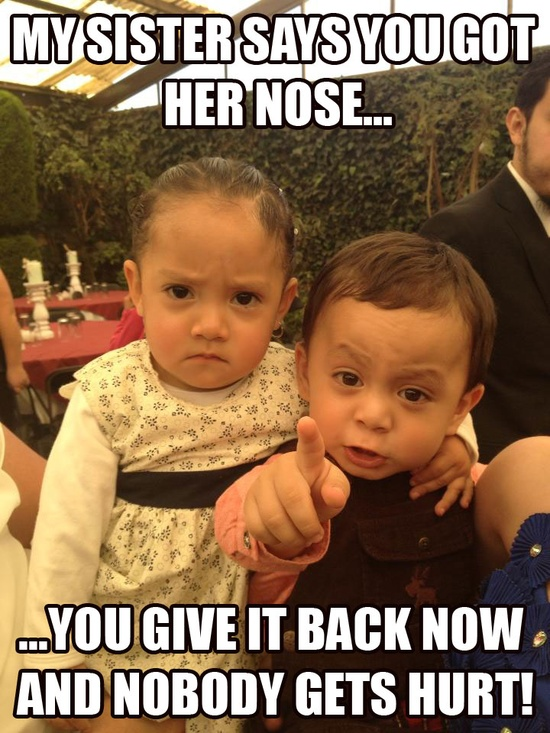 You Mean To Tell Me That She's Hiding Behind Her Hands ...