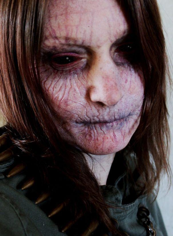 blood sucker vampire halloween makeup