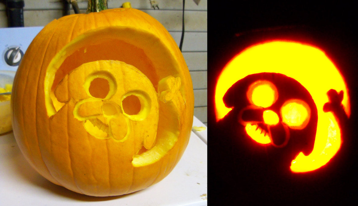 cool jake pumpkin for halloween