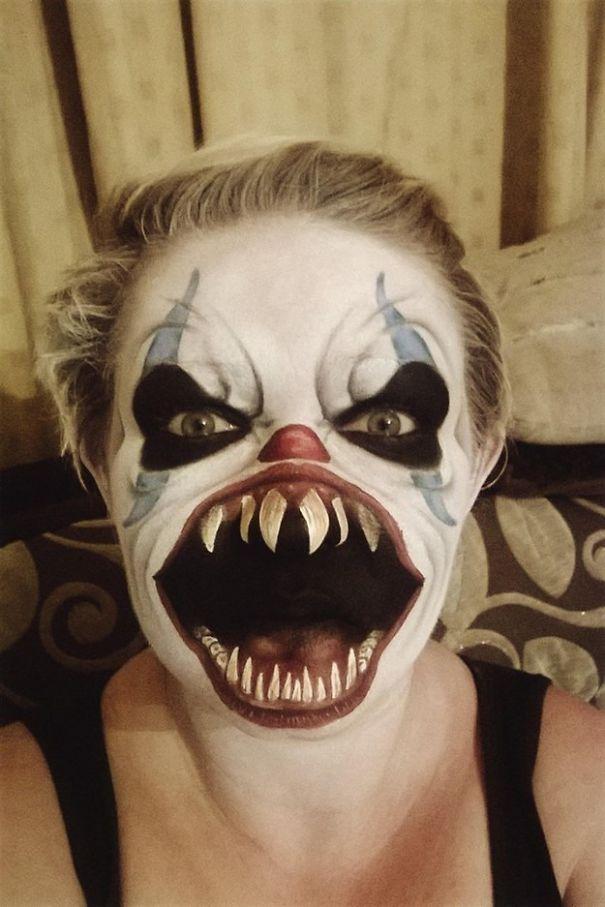 crazy and creative halloween makeup
