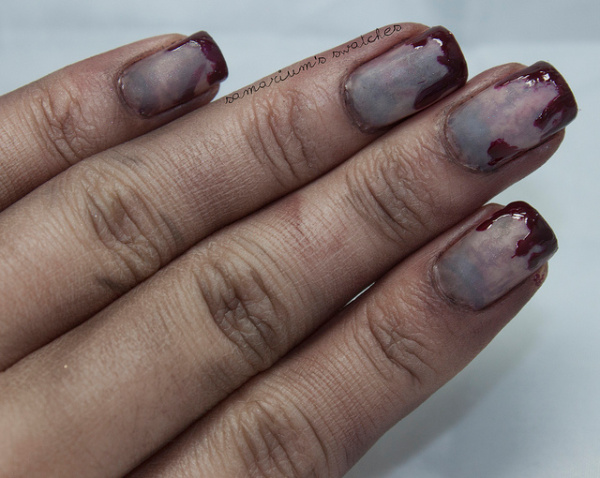 creepy scary zombie nails for halloween
