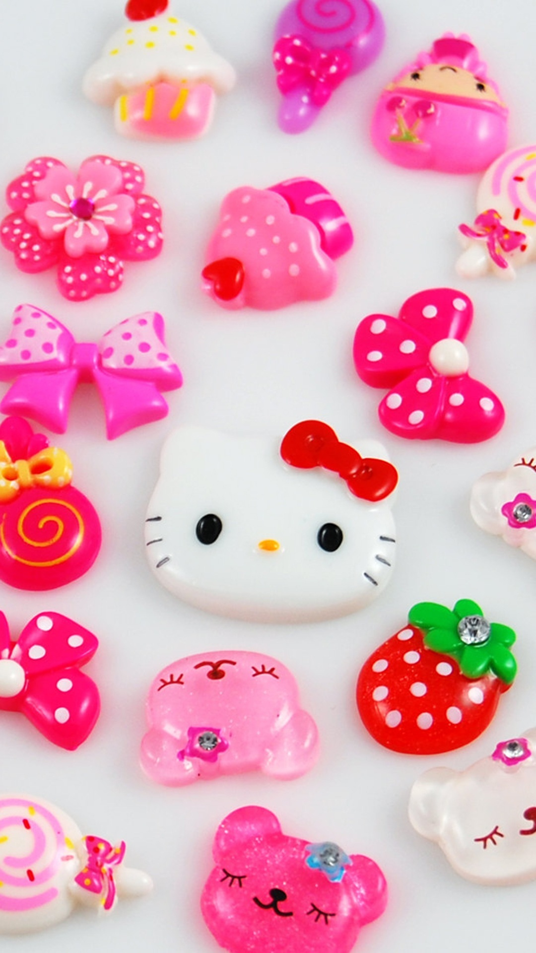 cute hello kitty iphone plus screen wallpaper