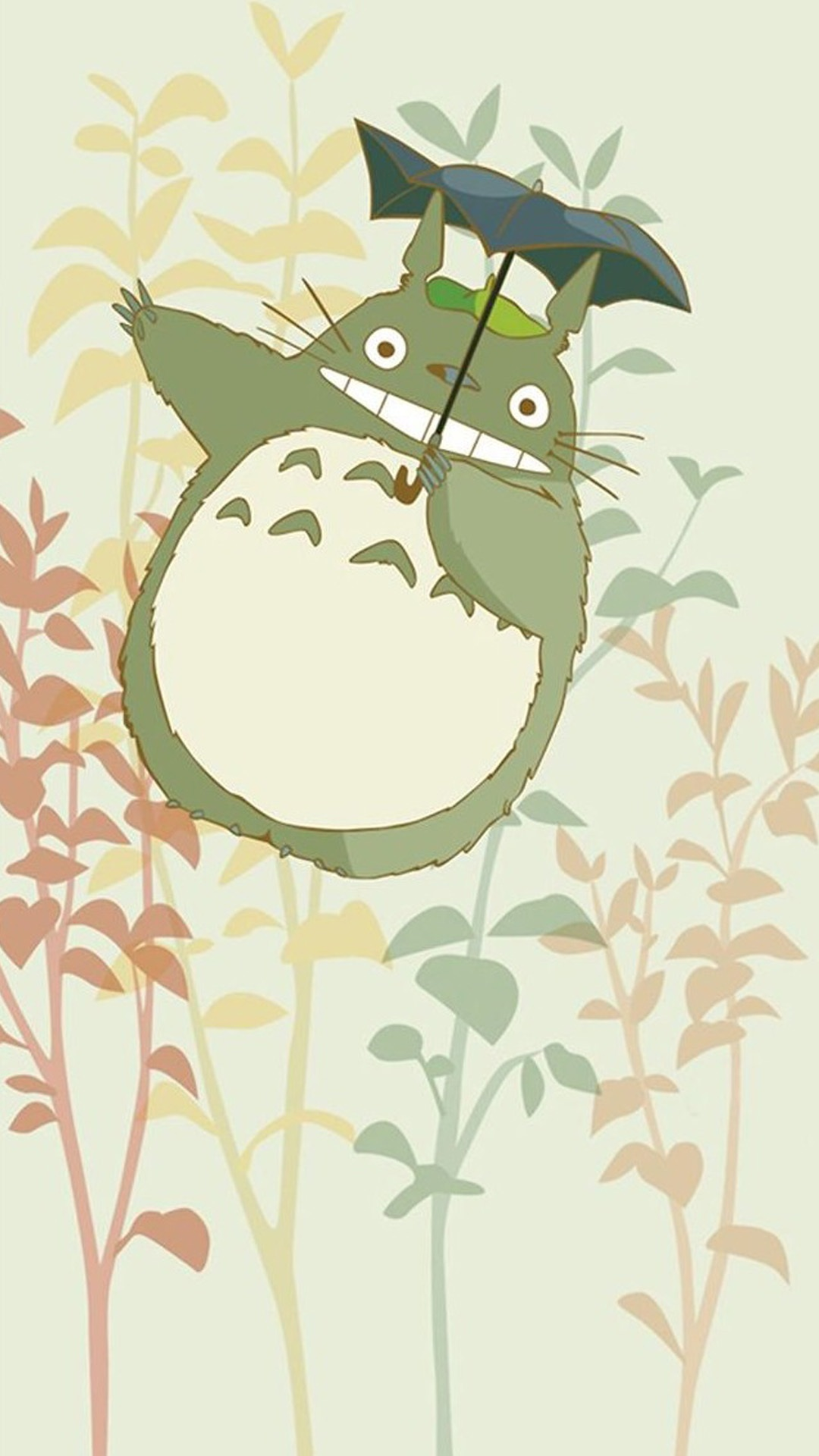 cute my neighbor totoro iphone wallpaper