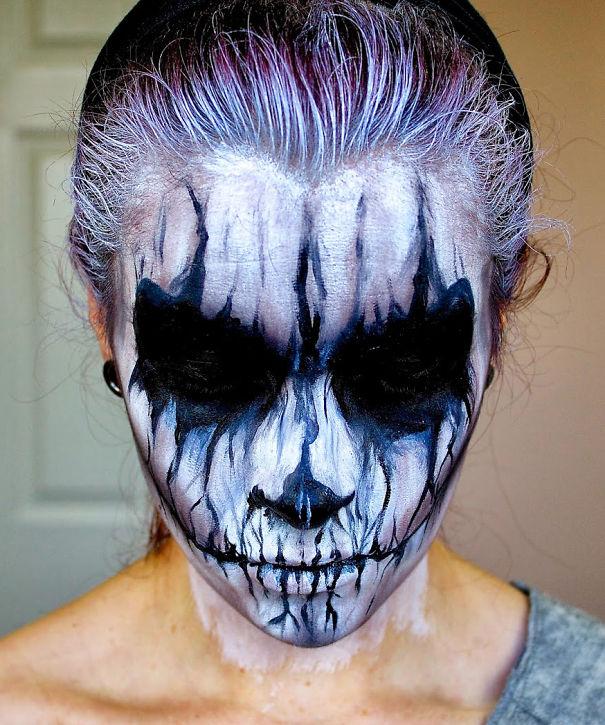 demon night halloween makeup