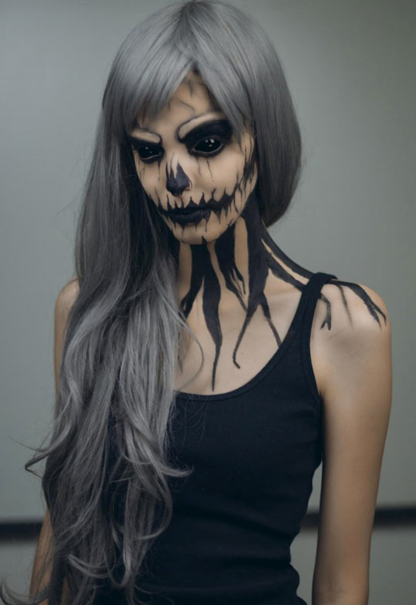 evil zombie makeup for halloween