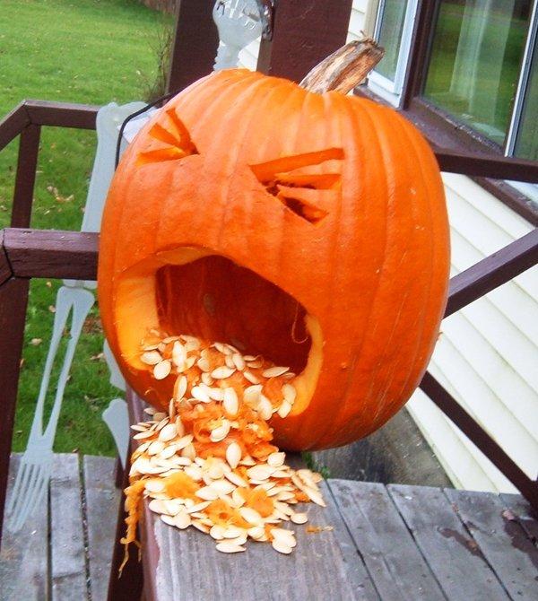 fun cool puking pumpkin for halloween