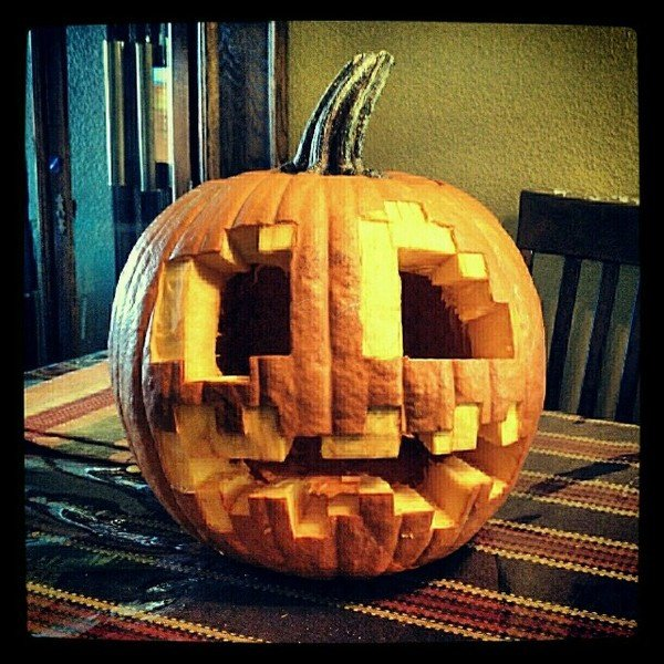 minecraft halloween pumpkin