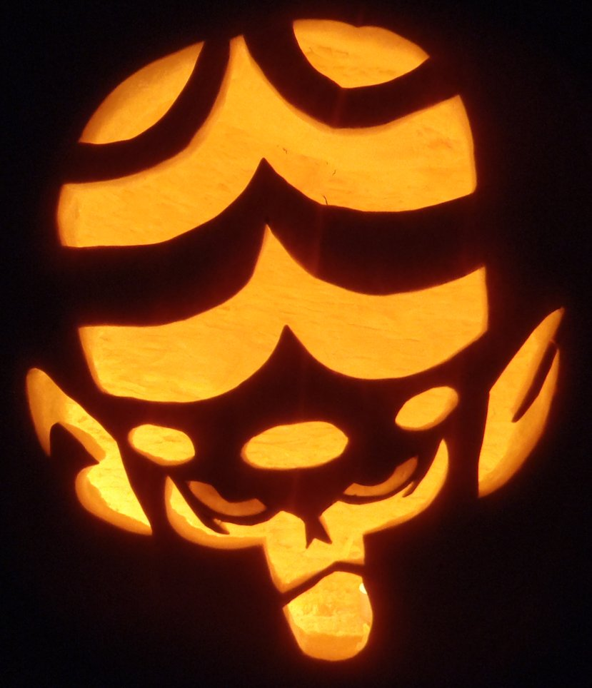 mojo jojo pumpkin carving idea