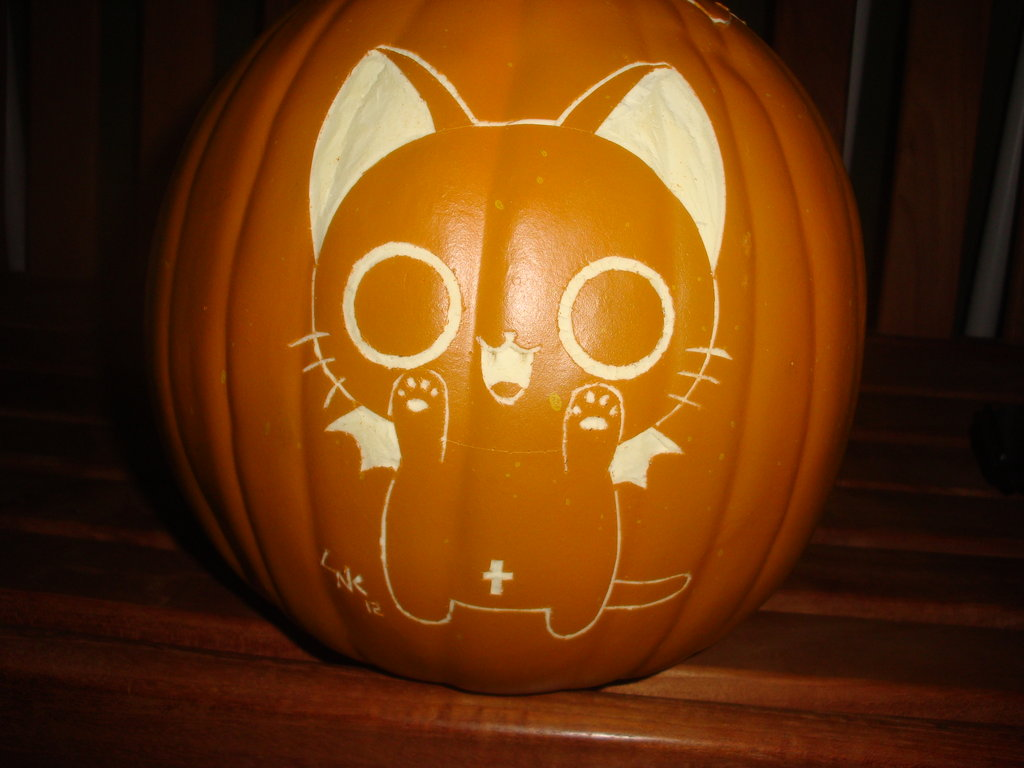 nyanpire halloween pumpkin carving idea