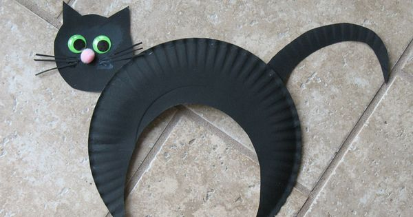paper black cat halloween crafts for kids