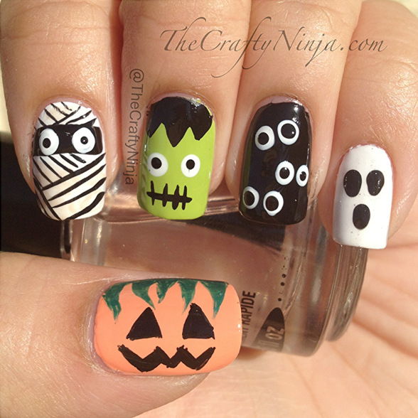 spooky halloween nail designs