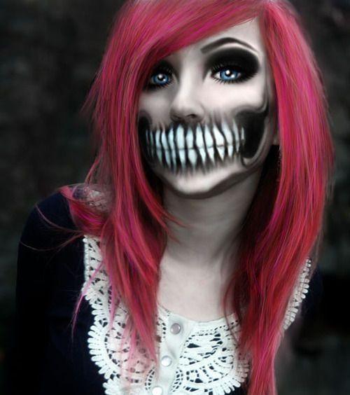 tooth face halloween makeup