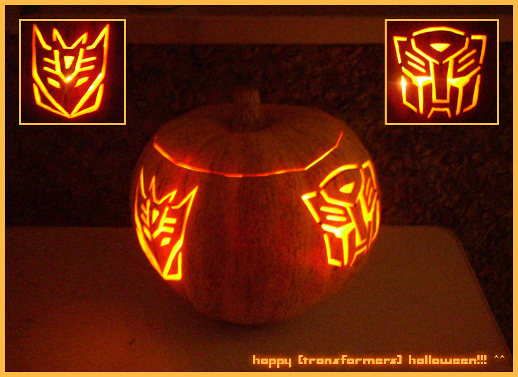 transformer halloween pumpkin
