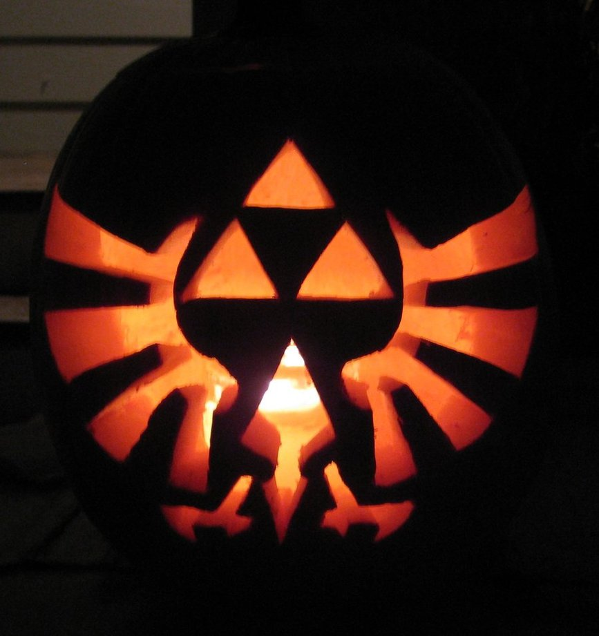 triforce pumpkin for halloween