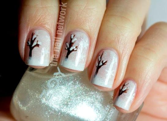 snowy winter tree nails