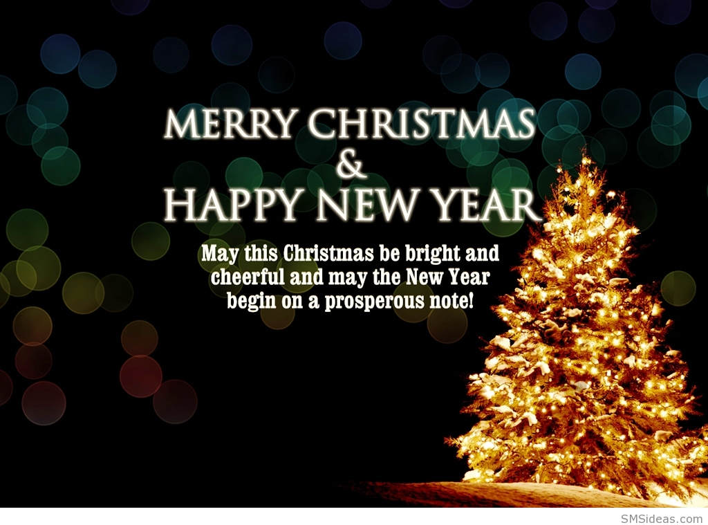 Beautiful merry christmas and happy new year pictures