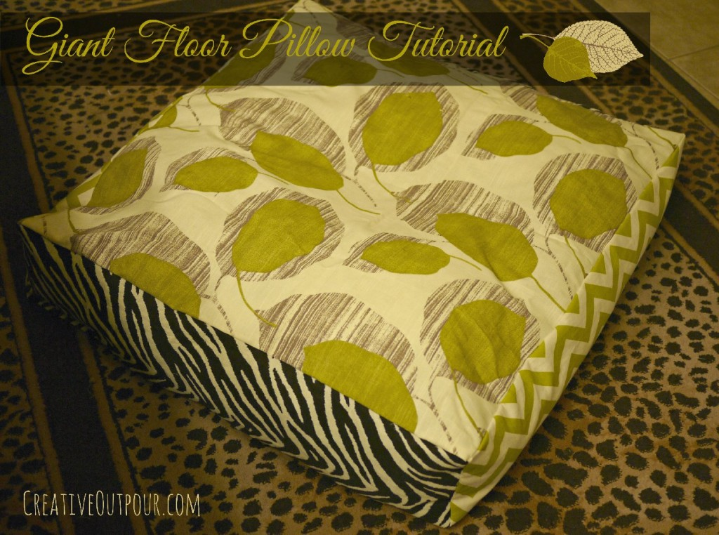 How To Make A Giant Floor Pillow : 15+ Cool DIY Tutorials On How to Make Pillows EntertainmentMesh