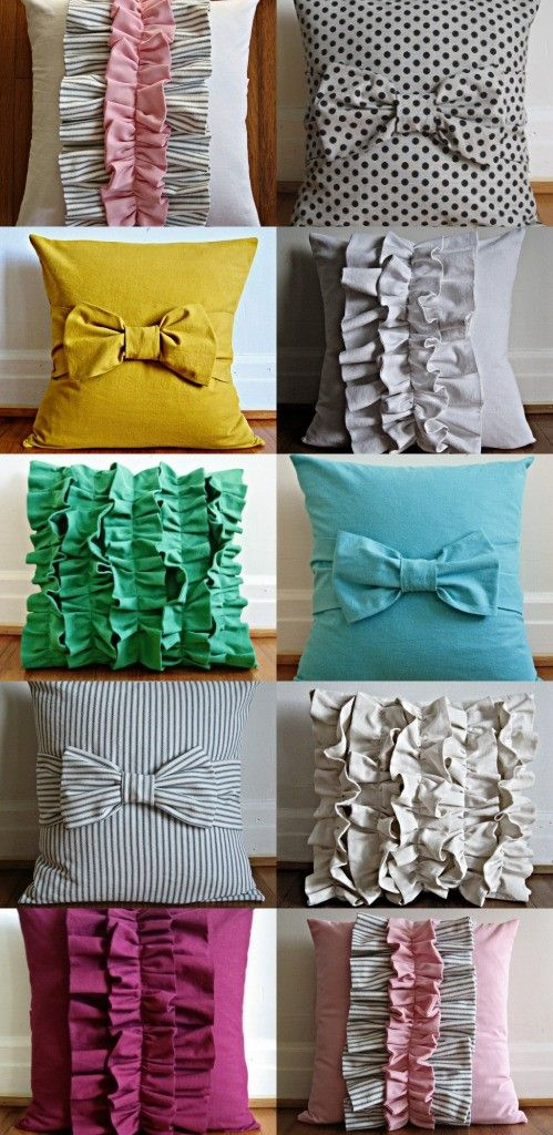 diy-ruffle-pillows