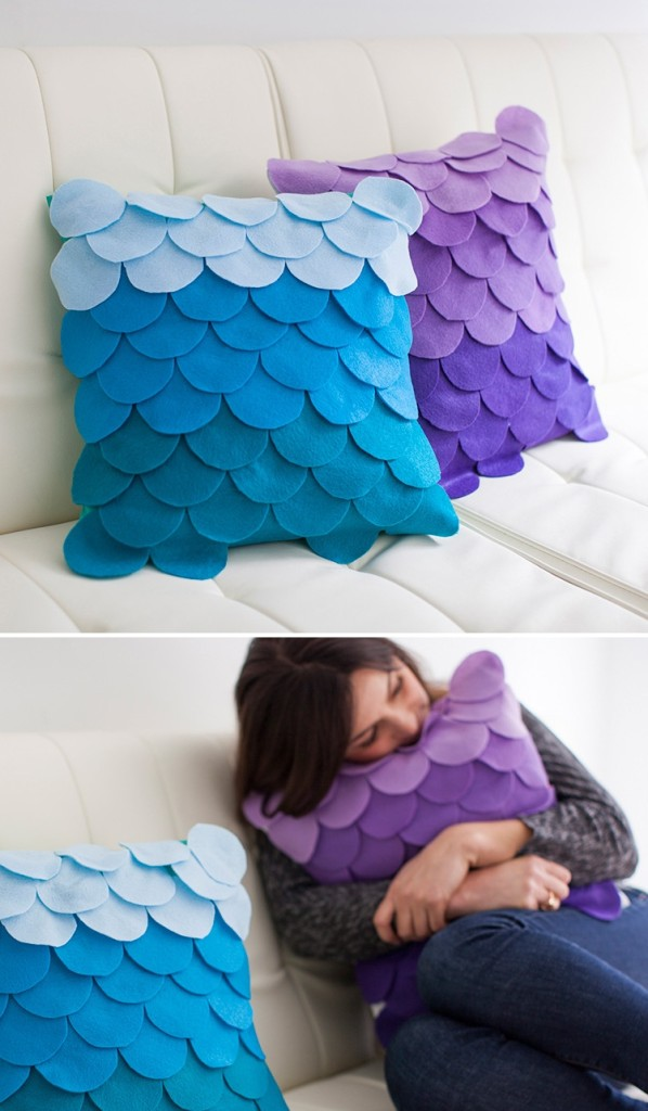 no-sew-scalloped-ombre-pillows