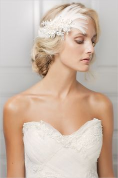 Brilliant Wedding Hairstyle In Chi Feathery Touch