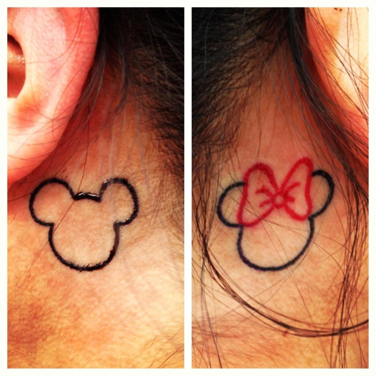 Mickey-Minnie-ink-tattoo-behind-ears