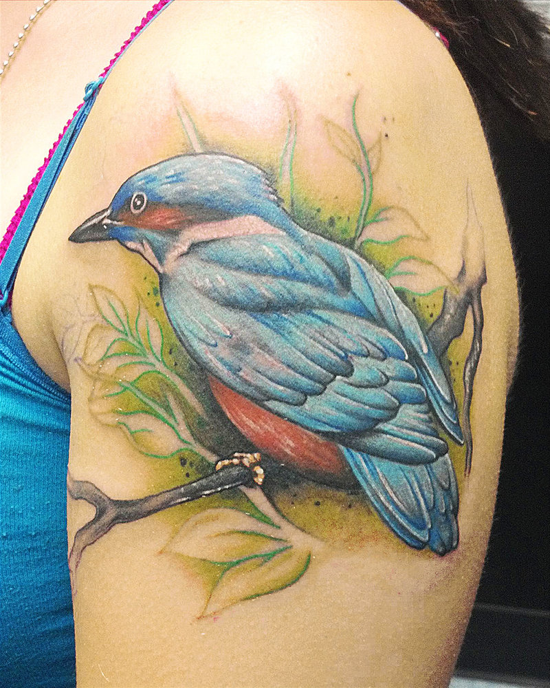 Kingfisher Bird Tattoo