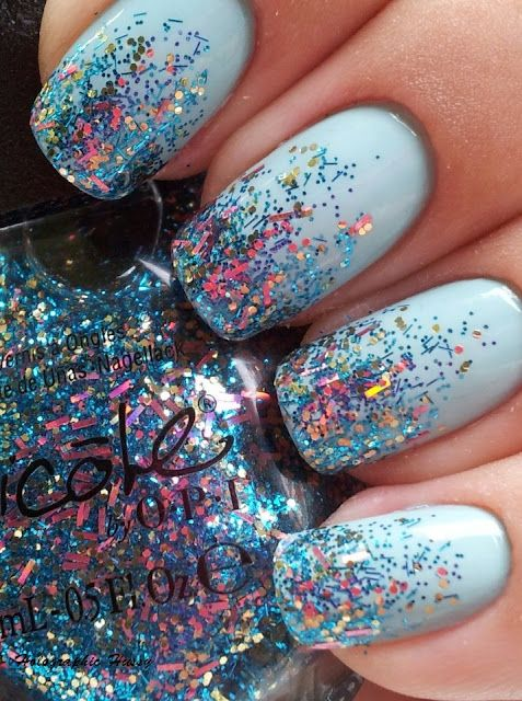 sparkles glaze beautiful nail art
