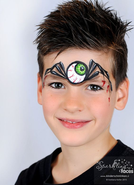3d-one-eye-spider-face-painting