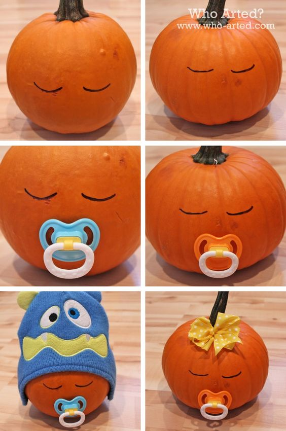 cute baby pumpkins decoration ideas - Decorated Halloween Pumpkins