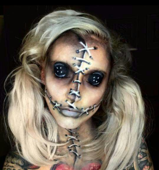 25+ Evil Scary Halloween Face Paint Ideas For Women - Popular Halloween Makeup