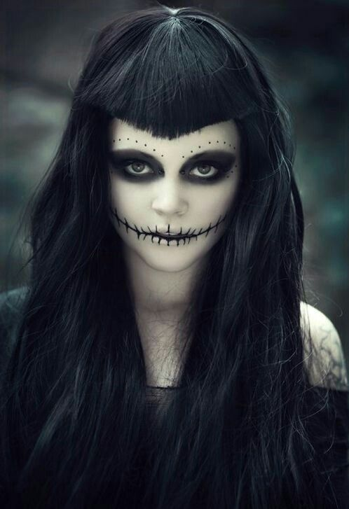 Creepy Halloween Makeup For Women - Women'S Halloween Makeup
