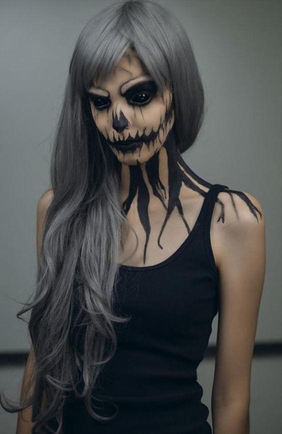 halloween face painting ideas - Female Halloween Face Painting