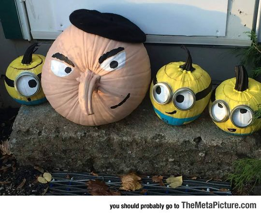 30 cool diy pumpkin decoration ideas for halloween Funny pumpkin painting ideas