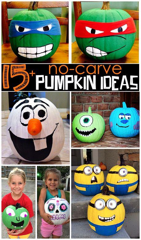 painted-cartoon-character-pumpkins-for-halloween