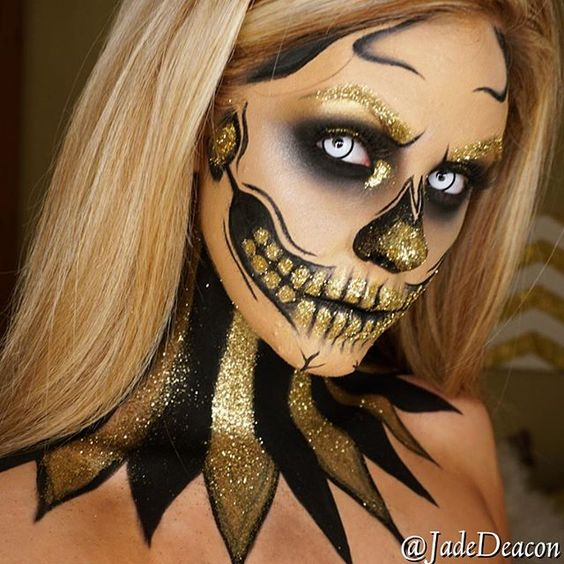 25+ Evil Scary Halloween Face Paint Ideas For Women - Ladies Halloween Face Paint