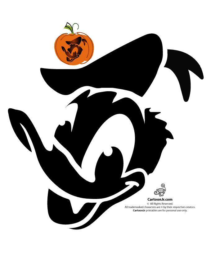 donald-duck-pumpkin-design