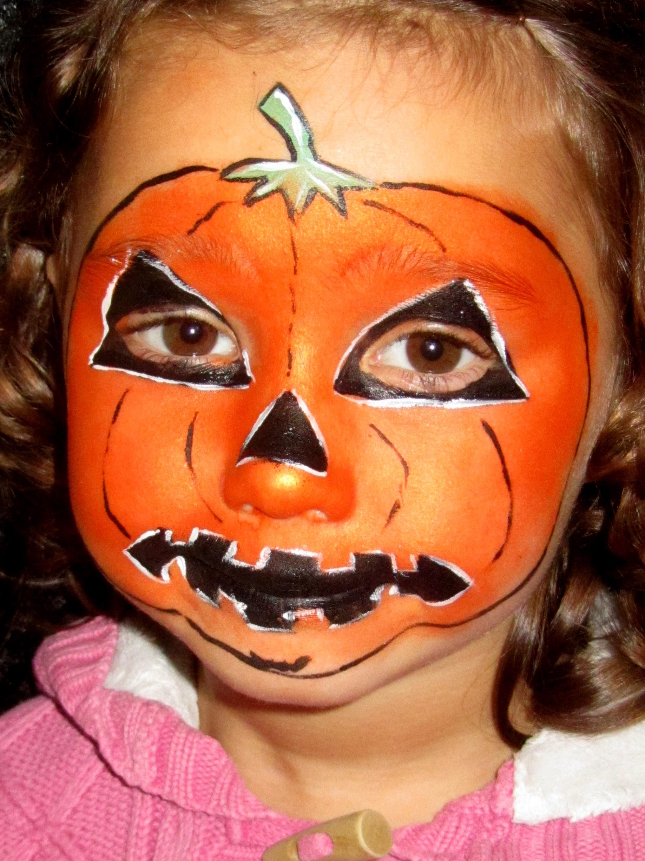 pumpkin-girl-face-paint