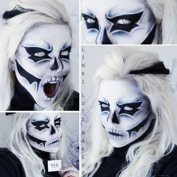 25 Evil Scary Halloween Face Paint Ideas For Women