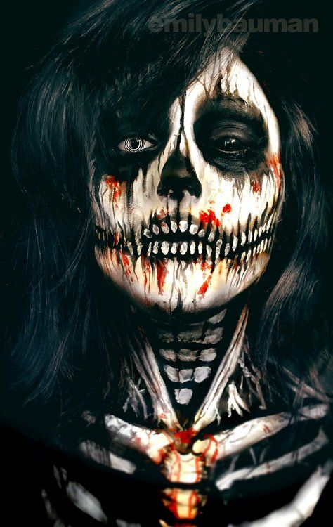 25+ Evil-Scary Halloween Face Paint Ideas For Women ...