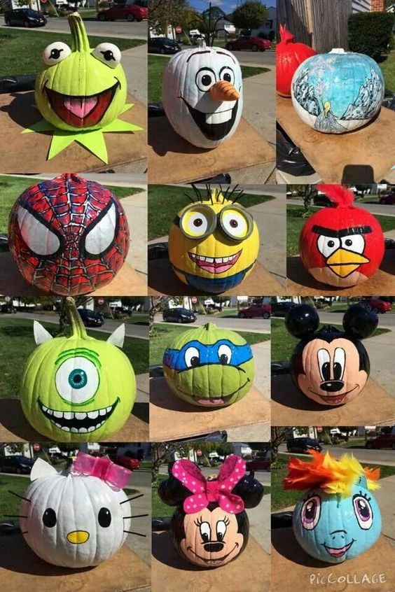 30 happy pumpkin faces carving patterns designs - Cute pumpkin painting ideas ...
