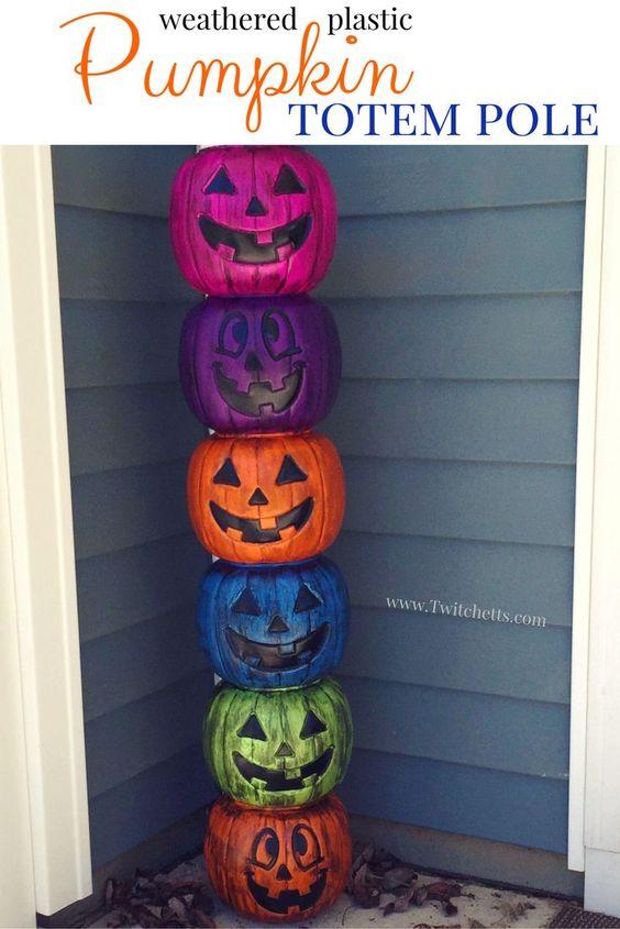 plastic-pumpkins-outdoor-decors